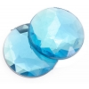 Acrylic 10mm Round Facet Aqua